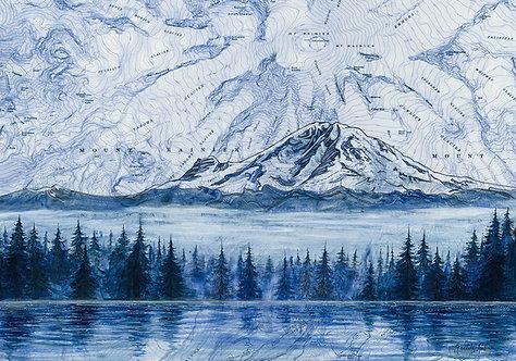Mt Rainier Morning Print