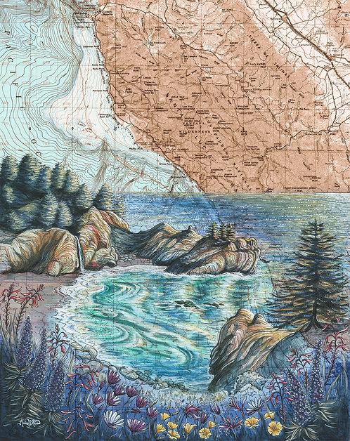 McWay Falls, Big Sur Print