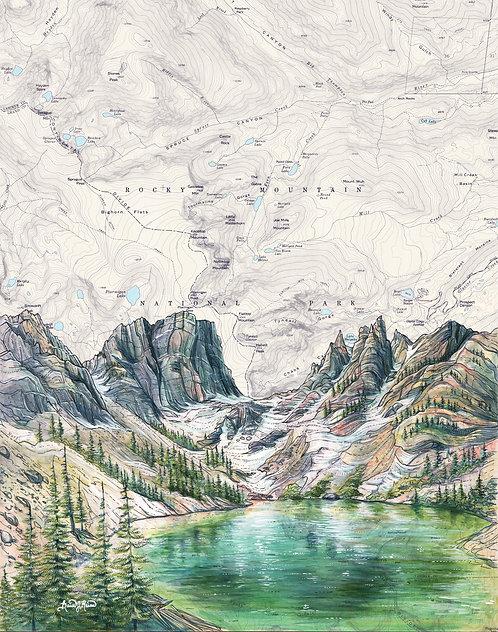 Emerald Lake Original Painting