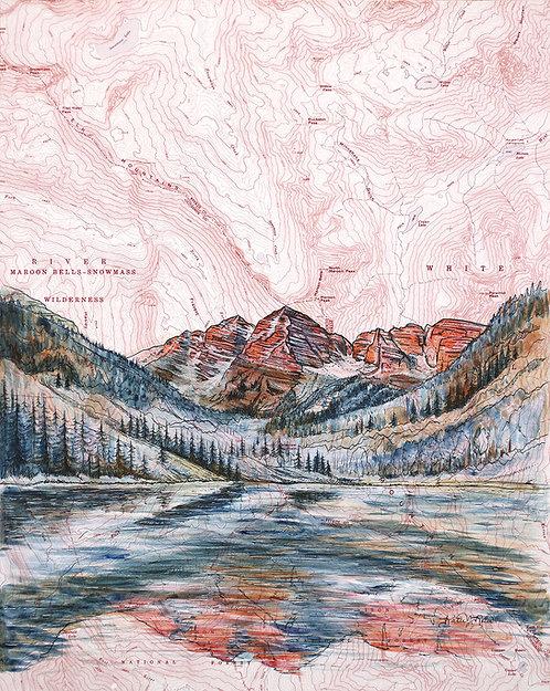 Maroon Bells Original Painting
