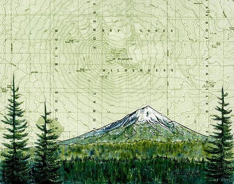 Mt McLoughlin Print