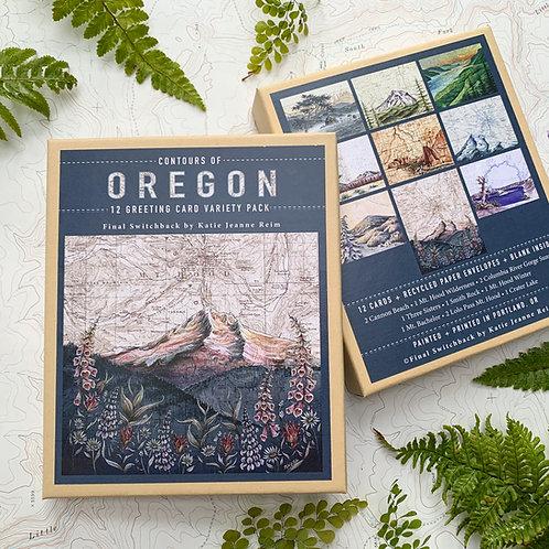 Contours of Oregon, 12 Card Set