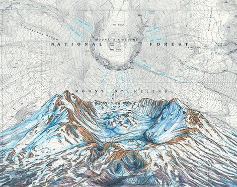 Mt St Helens Summit Print