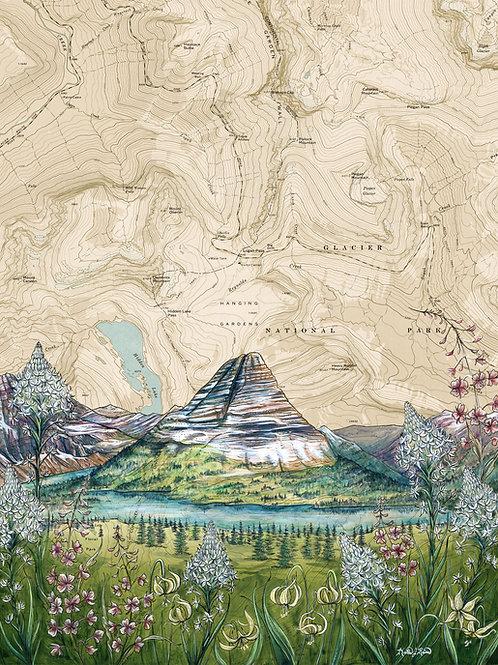 Hidden Lake, Glacier National Park Original Painting