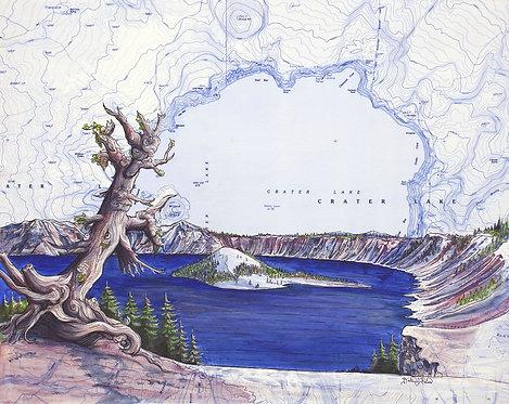 Crater Lake Print