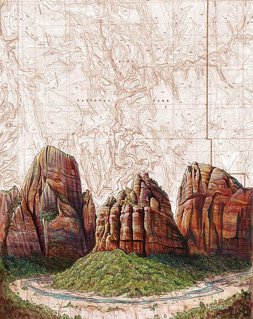 Zion, Angel's Landing Original Painting