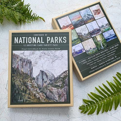 Contours of National Parks, 12 Card Set