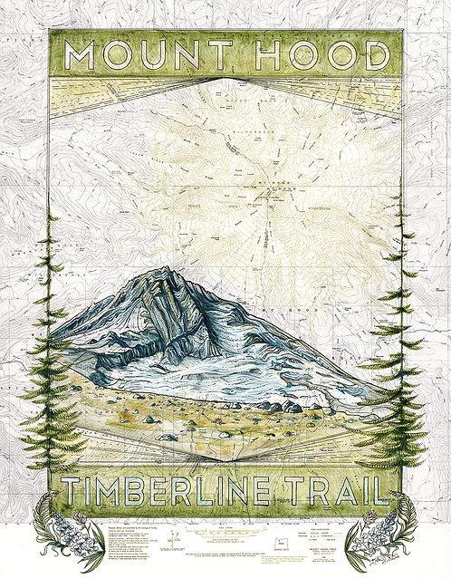 Timberline Trail Original Painting