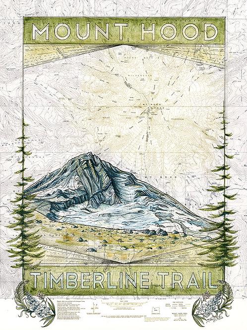 Timberline Trail Print