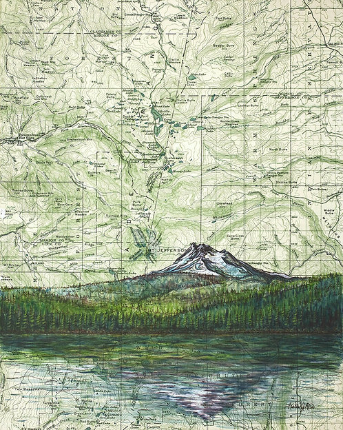 Mt Jefferson Print