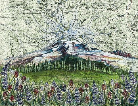 Mt Rainier Wildflowers Print