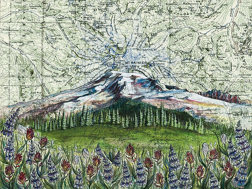 Mt Rainier Wildflowers Print