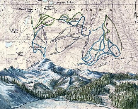Mt Baker Ski Print