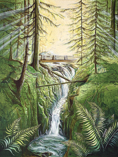 Sol Duc Falls Original Painting