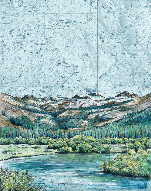 Lyell Canyon, Yosemite National Park Print