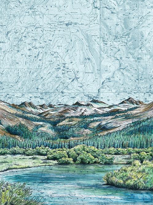 Lyell Canyon, Yosemite National Park Print