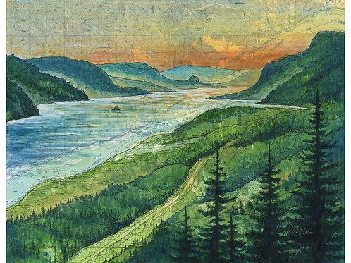 Columbia River Gorge Sunset Print