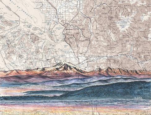 Mt. Baker from the San Juans Original Painting