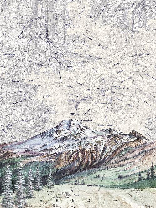 Mt Baker Print