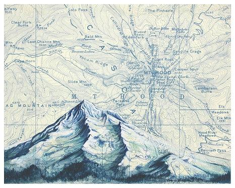 Mt. Hood Blue Print