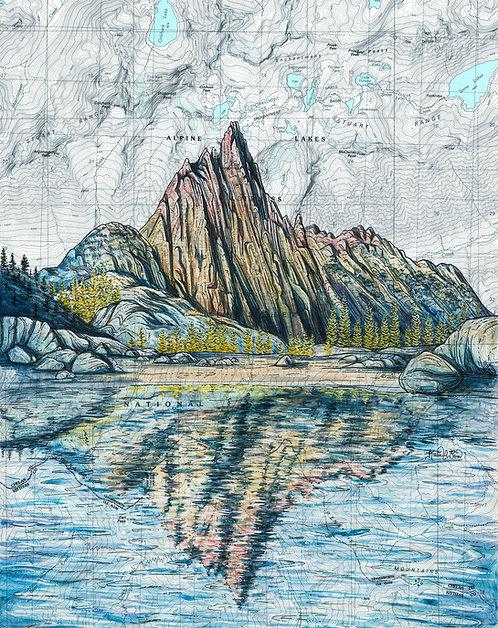 The Enchantments, Prusik Peak Original Painting