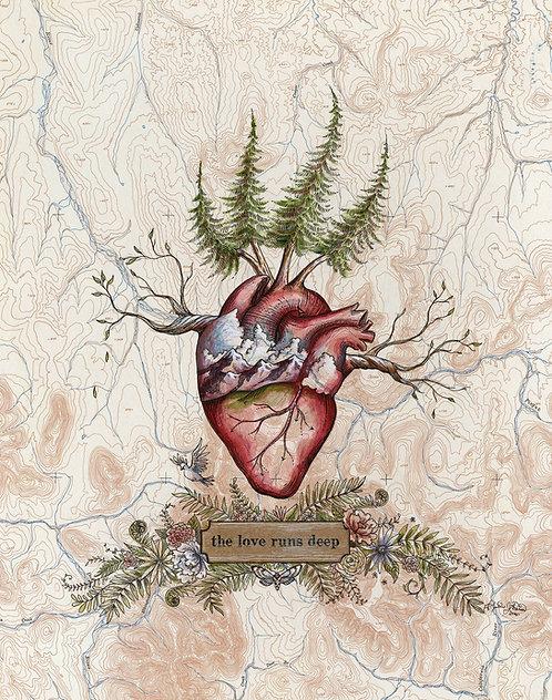 The Love Runs Deep Print