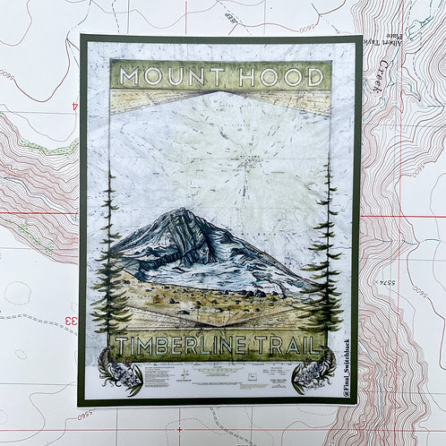 Mt Hood Timberline Trail Vinyl Weatherproof Sticker
