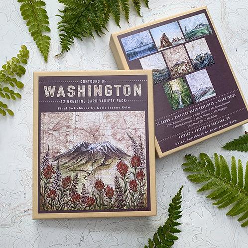 Contours of Washington, 12 Card Set