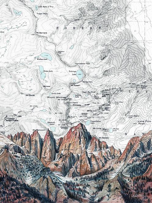Mt. Whitney Alpenglow Print