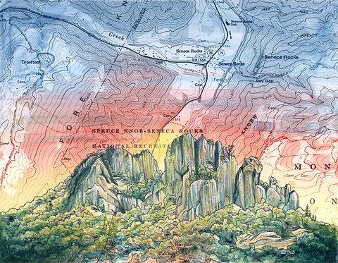 Seneca Rocks Print