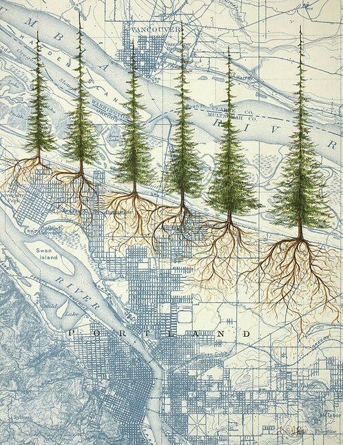 Portland Roots Print