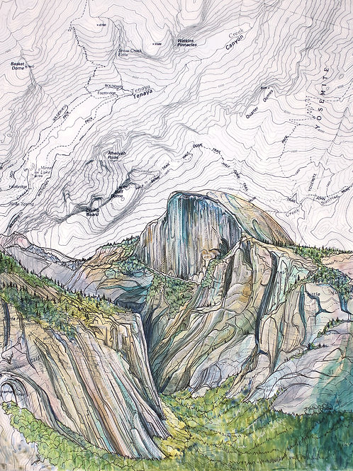 Half Dome Original Painting