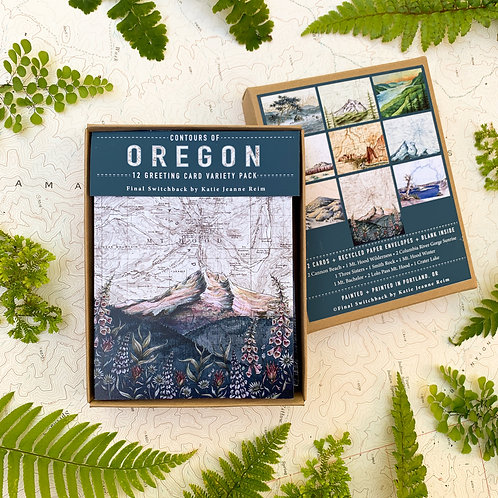 Contours of Oregon, 12 Card Set