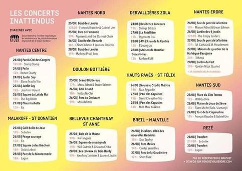 Des concerts !!