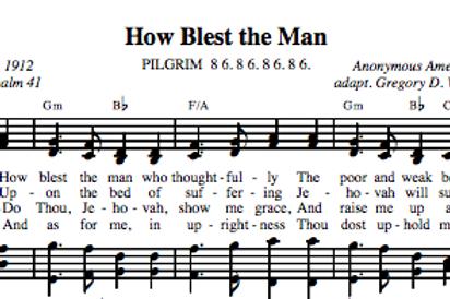 Psalm 41 | How Blest the Man (4-part)