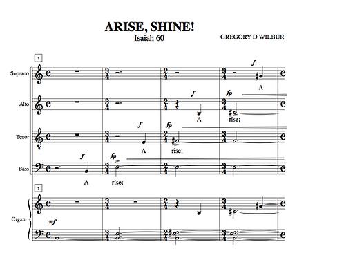 Arise Shine Introit (Choral)