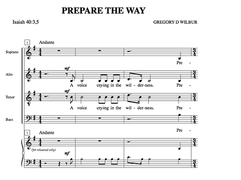 Prepare The Way (Choral)