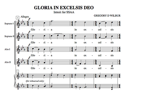 Gloria In Excelsis (Choral)