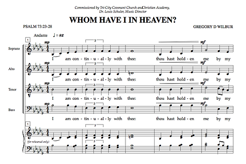 Whom Have I in Heaven (Choral)