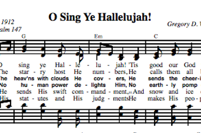 Psalm 147 | O Sing Ye Hallelujah (4-part)