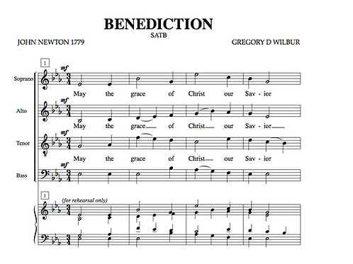 Benediction (Choral)
