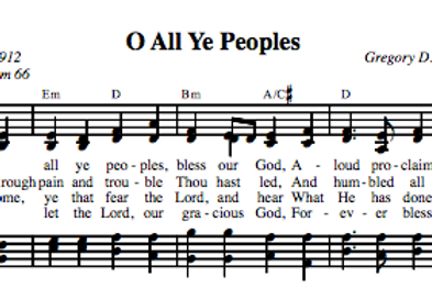 Psalm 66 | O All Ye Peoples (4-part)