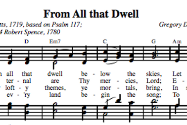 Psalm 117 | From All That Dwell (4-part)