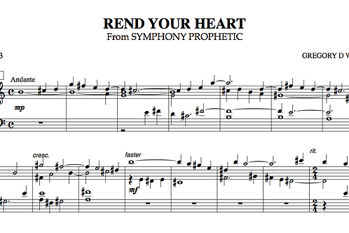 Rend Your Heart (Choral)