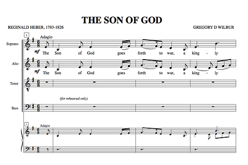 The Son Of God (Choral)