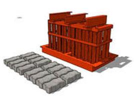 Interlocking Paving Brick MK3 Mould (55/65/80x100x200mm)