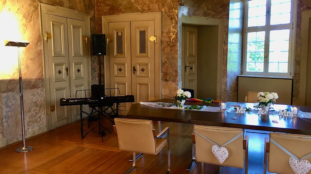 Standesamtliche Trauung, Rathaus Heimsheim, Pianist mit E-Piano
