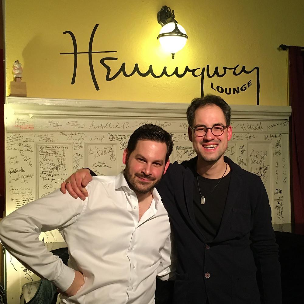 Konzert mit dem Trompeter Georges Soyka in der Hemingway Lounge Karlsruhe, Jazzpianist