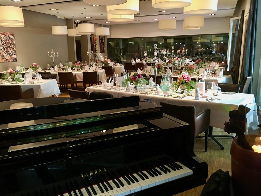 Hochzeitsdinner, Weingut Heitlinger Östringen, Pianist/Jazzpianist