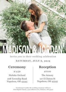 Madison & Jordan Wedding Invite 3